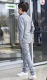 Дитячий брючний костюм піджак і штани льон сірий коричневий розмір: від 116 до 146-152, фото 4