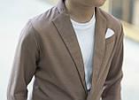 Дитячий брючний костюм піджак і штани льон сірий коричневий розмір: від 116 до 146-152, фото 6