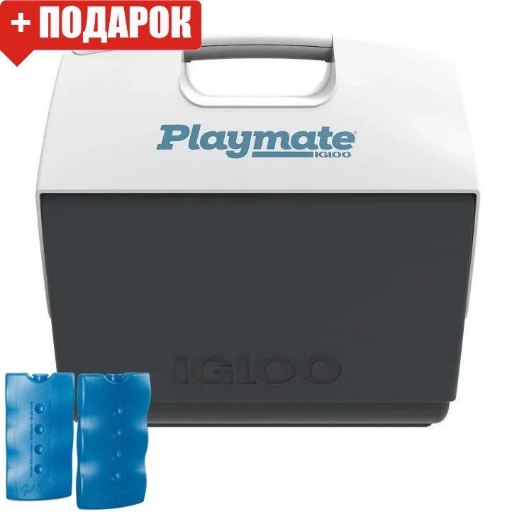 Термобокс Igloo Playmate Elite 15 л серый (сумка холодильник, термосумка пластиковая, термо контейнер)