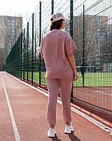 Женский летний спортивный костюм-тройка с бриджами и штанами (Батал), фото 7