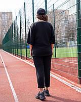 Жіночий літній спортивний костюм з футболкою і короткими штанами (Батал), фото 6