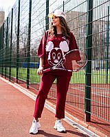 Жіночий літній спортивний костюм з футболкою і короткими штанами (Батал), фото 7