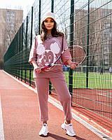 Жіночий літній спортивний костюм з футболкою і короткими штанами (Батал), фото 8