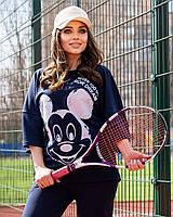 Жіночий літній спортивний костюм з футболкою і короткими штанами (Батал), фото 9