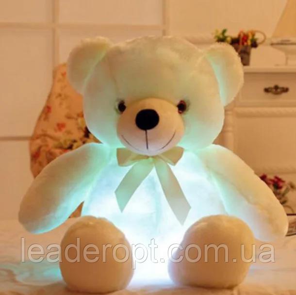 ОПТ Светящийся мишка 50 см белый Мягкая игрушка медведь