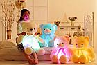 ОПТ Светящийся мишка 50 см белый Мягкая игрушка медведь, фото 4