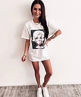 Женская стильная футболка с рисунком