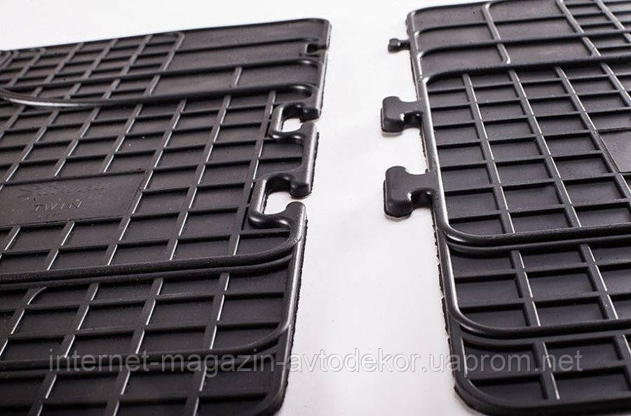 Ковры салона UNI TWIN (1550х450) 2-й и 3-й ряд сидений (передние-2шт)