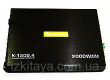 Автомобильный усилитель звука Roadstar K-1500.4 2000W четырехканальный (автоусилитель звука на 4 канала)