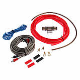 Набір проводів для підсилювача / сабвуфера MDK 8GA (повний комплект проводів для установки підсилювача), фото 5