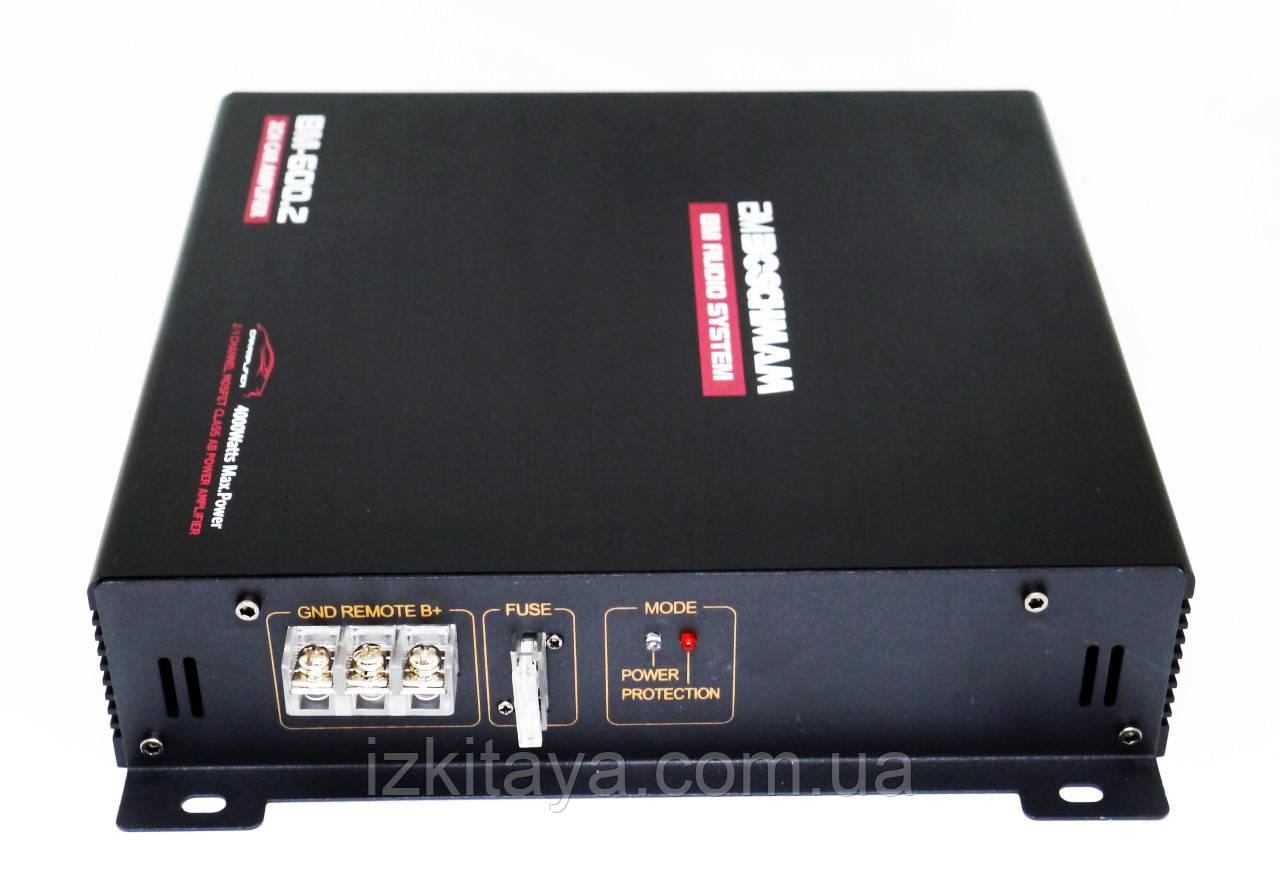 Автомобильный усилитель мощности звука Boschmann BM-600.2 2-х канальный (автоусилитель звука на 2 канала)