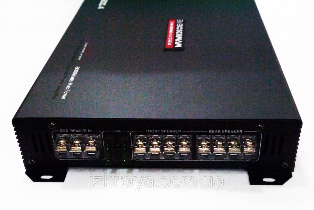Автомобільний підсилювач потужності звуку чотирьохканальний Boschmann BM Audio BM-600.4