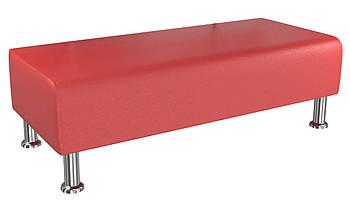 Банкетка BNB Solo1200x500x380 красная.  Кушетка . Для школы, больницы, приемной, ожидания