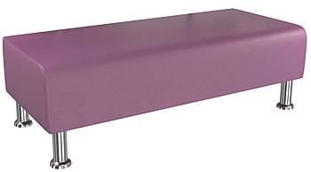 Банкетка BNB Solo1200x500x380 фиолетовая.  Кушетка . Для школы, больницы, приемной, ожидания