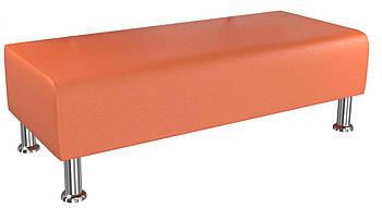 Банкетка BNB Solo1200x500x380 оранжевая.  Кушетка . Для школы, больницы, приемной, ожидания