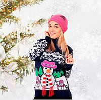 Свитер женский зимний Снеговичок