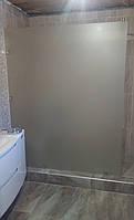 Стеклянная перегородка в душ, ванную 2000мм х 1000мм, толщина 8мм, сатин