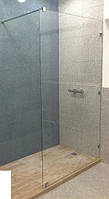 Стеклянная перегородка в душ, ванную 2000мм х 1000мм, толщина 8мм, прозрачная