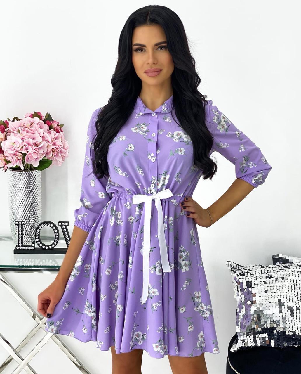 Літнє вільне плаття-сорочка з пишною спідницею