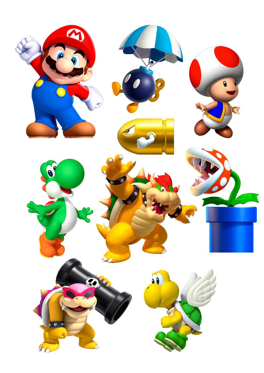 Вафельные картинки Супер Марио