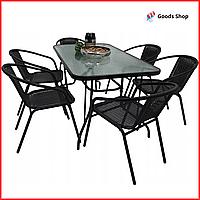 Набор садовой мебели для дачи со столом шестью стульями Комплект мебели для сада Летняя мебель для кафе Jumi