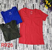 Футболка однотонная-мысик для девушек норма размер 42-48,цвет уточняйте при заказе