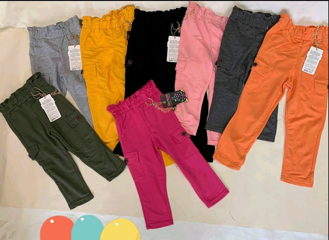 Штаны для девочек 3-6 лет (трикотажные)