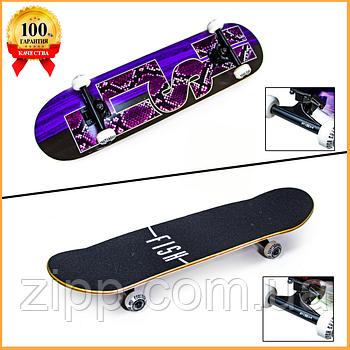 Дерев'яний Скейтборд Fish Skateboard Snake Skin