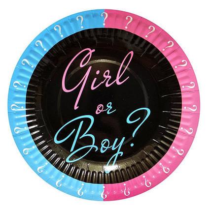 Тарілки одноразові Хлопчик чи дівчинка Baby shower 10 штук