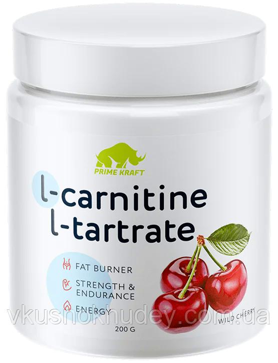 Жиросжигатель L- carnitine Prime Kraft  Дикая Вишня (200 грамм)