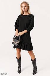 Повседневное платье свободного кроя черное