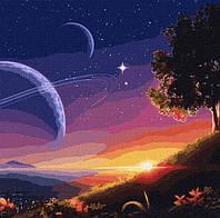 Красочная Картина по номерам Путь в космос 50х50 см Живопись по цифрам на холсте с подрамником Идейка KH9545