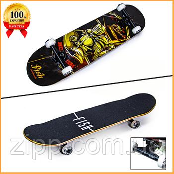 Дерев'яний Скейтборд від Fish Skateboard Лицар
