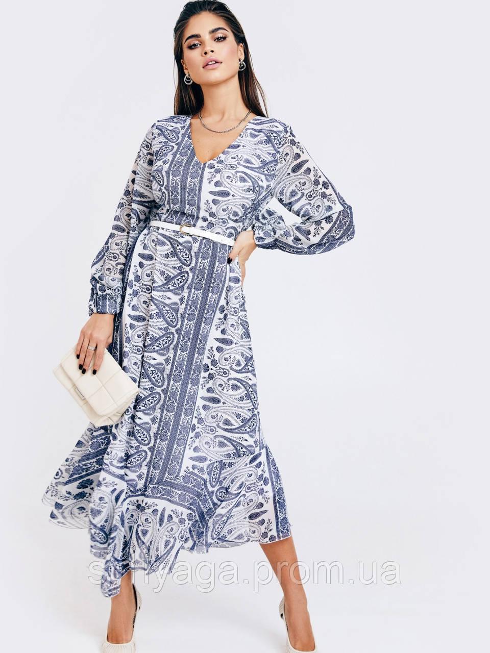 Шифонове плаття з принтом і асиметричний подолом
