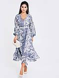 Шифонове плаття з принтом і асиметричний подолом, фото 2