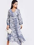 Шифонове плаття з принтом і асиметричний подолом, фото 3