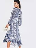 Шифонове плаття з принтом і асиметричний подолом, фото 4