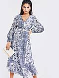 Шифонове плаття з принтом і асиметричний подолом, фото 5