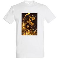 """Белая футболка с надписью принтом """"Аниме. Атака Титанов. Эрен"""""""