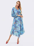Шифонове плаття з принтом і асиметричний подолом, фото 8