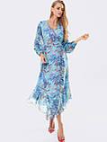 Шифонове плаття з принтом і асиметричний подолом, фото 10