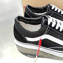 Vans Old Skool black черно белые кеды низкие женские черные ванс вэнс летние кеды | не оригинал, фото 3