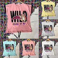 Подростковая футболка-топ WILD для девочек 8-14 лет,цвет уточняйте при заказе, фото 1