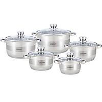 Набор посуды Maestro MR-2220-10, 10 предметов, нержавеющая сталь, все типы плит | кастрюли Маэстро, Маестро, фото 1