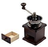 Кофемолка ручная деревянная Benson BN-184 | измельчитель кофе Бенсон, винтажный аппарат для помола кофе Бэнсон, фото 6