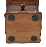 Кофемолка ручная деревянная Benson BN-184 | измельчитель кофе Бенсон, винтажный аппарат для помола кофе Бэнсон, фото 7