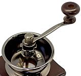 Кофемолка ручная деревянная Benson BN-184 | измельчитель кофе Бенсон, винтажный аппарат для помола кофе Бэнсон, фото 9
