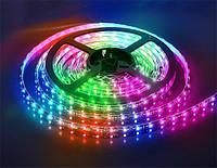 Гирлянда дюралайт   светодиодная лента   прямоугольный шланг 2835, RGB, 10м с контролером на 220в (Микс), фото 1
