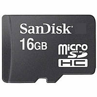 MicroSD флешка для телефона SanDisk microSDHC 16Gb Class 10 | карта памяти для телефона