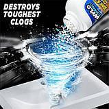 Мощный очиститель для мойки и слива WILD Tornado Sink & Drain Cleaner | от засора слива раковины и канализации, фото 4